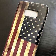 For Samsung Galaxy S8 - TPU RUBBER GUMMY PHONE CASE SKIN COVER USA AME