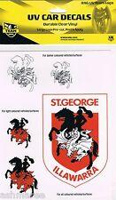 NRL St George Illawarra Dragons 5 UV Car Tattoo Sticker Decal iTag