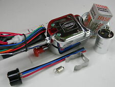 Chrome 7 wire turn signal blinker switch & flasher Golf Cart Quad Antique Auto