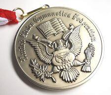 Rare United States Gymnastics Federation Large Silver Award Medal