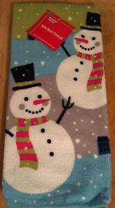 Snowman Christmas Kitchen Towel Holiday Snow