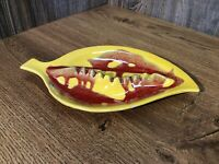 Mid Century Yellow Drip Glaze Pottery Ashtray Ash Tray MCM California B3