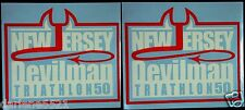New Jersey Devil Man Triathlon 50 mile Two Decals i Pad, Luggage, Car Window