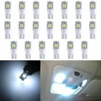 20x T10 5050 W5W 5 SMD 194 168 LED White Car Wedge Interior Light Lamp Bulb 12V