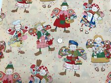 Patchwork Angel Characters Christmas Fabric Alexander Henry Sold By The Yard