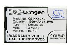 Battery CS-NK4UXL-003 For Nokia BL-4U 3.7v 1200mAh / 4.44Wh Mobile,Phone Battery