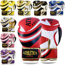 Boxing Gloves Punch Bag Rex Leather Pro Kick Fight Gym Punching Training Mitt KS