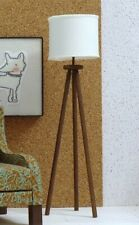 1/6 scale tripod floor lamp for dollhouse in Cream shade
