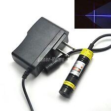 405nm 100mW Blue/Violet Focusable Cross Laser Diode Module + 5V Adapter