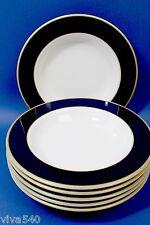 !!!!! Pagnossin Treviso 6 SUPPENTELLER Rand blau gold Italy Keramik !!!!!!!!!!