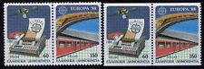 1988 Greece Europa CEPT 2&4 sides perf MNH Communication & Transport Scott $23.5