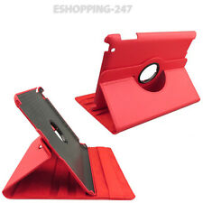 New Smart Red Colour Case Cover Leather Stand 360 Degree for iPad