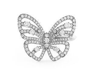 Original 925 Sterling Silver Cocktail Ring Mariah Carey Butterfly Fan women Gift