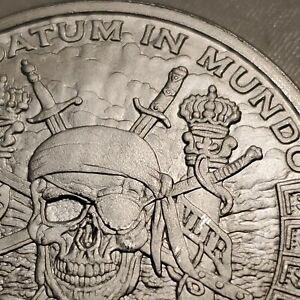 🏴☠️Pirate Silver Pieces of Eight 8 Silver Shield 1 Troy Oz Minty 999 Fine☠