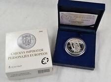 10 Euro Spanien 2006 Carlos V. Silber 925 in Etui PP