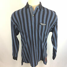 Rare Vintage 90's Tommy Hilfiger Sailing US Navy Polo Shirt Stripe Color Block