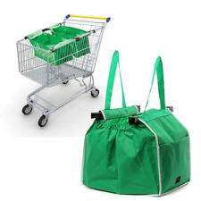 Foldable Reusable Shopping Bag Eco Grocery Fabric Tote Bag Clip-To-Cart Trolley