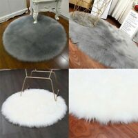 Fluffy Rugs Anti-Skid Area Rug Dining Room Home Carpet Floor Mat Faux Unique