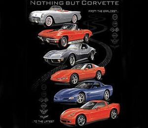 GM / Chevrolet Corvette Nothing But BLACK Adult SWEAT SHIRT HOODIE