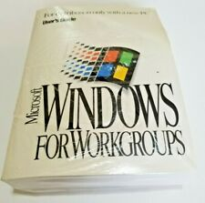 Microsoft Windows Workgroups 3.11 New Sealed CoA 1994 DOS 6.22