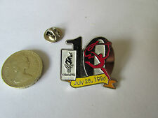 ATLANTA  Olympics 1996  10 Days to Go 28 July 96 Original Metal PIN Badge 612992