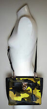 Michael Kors Hamilton Traveler Haircalf ACID Lemon Messenger Crossbody Bag