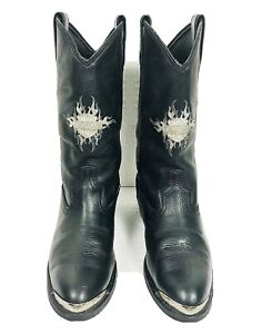 Harley Davidson Armarillo Silver Metal Toe Oil Resistant  Goodyear Welted 9.5