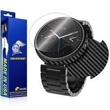 ArmorSuit MilitaryShield Motorola Moto 360 Smartwatch Screen + Black Carbon Skin