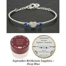 September Sapphire/Deep Blue Equilibrium Birthstone Bracelet Jewellery Birthday