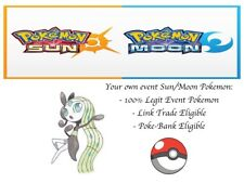 Pokemon Sun and Moon XY ORAS 20th Anniversary Event Pokemon Meloetta w/ PP Max