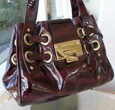 Auth Jimmy Choo Riki Ramona Tiger Patent  Leather Satchel Bag! $1650 RTL