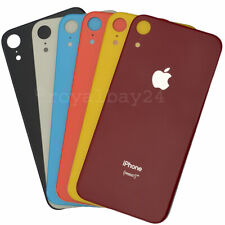 IPHONE XR Echt-Glas Replacement Battery Cover Black Blue White Red Coral Yellow