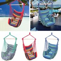 Deluxe Hanging Rope Chair Porch Swing Yard Garden Patio Cotton Hammock Outdoor