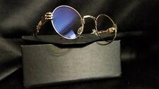 GAMT Round Steampunk Sunglasses Vintage Metal Frame Glasses
