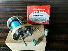 SHAKESPEARE PRESIDENT CASTING Fishing REEL 1976T Tru-Axis Box & Spare Handle Old