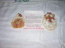 Christmas Dough Art Santa and Mrs. Ornaments