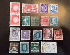 Stamps used Small Mix Of 18 From Europe some old some not.