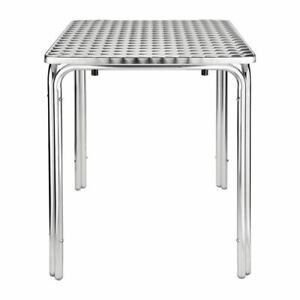 Bolero Square Table - Stainless Steel Aluminium Base 720(H) x 600(W) x 600(D)mm