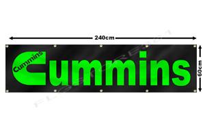 Cummins Banner Flag 2x8ft Diesel Power Engine Garage Wall Decor Flag USA