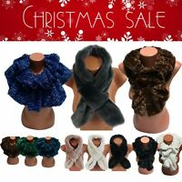 Amavisse UK - Women Fashion Thick Warm Fur Scarf Shawl Cape Christmas Gift Idea