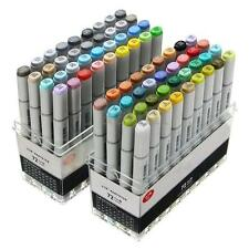 72 Pcs Artist Sketch Markers Set Broad and Fine Nibs Mark Pen Copic Design Gift