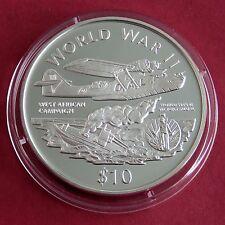 Liberia 1997 Afrique de l'ouest campagne $10 1 oz (environ 28.35 g) .999 Fine Silver Proof