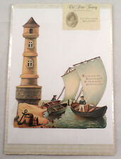 Victorian Turn of the Century Happy Birthday Lighthouse Greeting Card