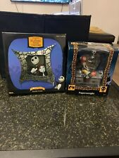 NIGHTMARE BEFORE 10th ANNIVERSARY PEWTER FRAME PHOTO NECA & PAPERWEIGHT