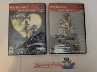 * New * Kingdom Hearts 1 + II 2  - Sony PlayStation 2 ps2 lot * Sealed * Disney