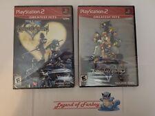* New * Kingdom Hearts 1 + II 2  - Sony PlayStation 2 ps2 lot * Sealed * Disney