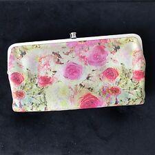HOBO International Lauren Clutch Wallet Floral Leather