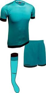 Soccer Lime Turquoise/Black Sarson Bremen Uniform Kit Jersey Shorts and Socks
