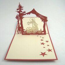 NATIVITY pop-up greeting card (beautiful & unique gift/decor/art)