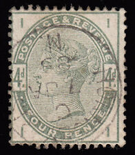 Handstamped Great Britain Victoria Surface-Printed Stamps